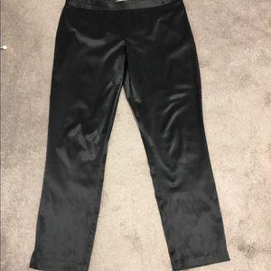 🇨🇦 Black Shiny Satin Straight Leg Pants-